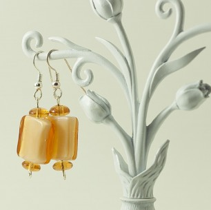 Dangle Bead Earrings &#8211; Marigold