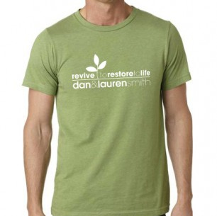 Mens Heather Green T